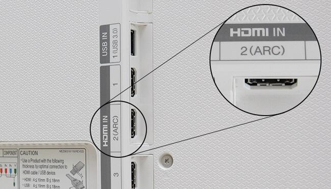 Kết nối qua cổng HDMI