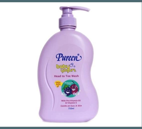 Sữa tắm gội toàn thân hương nho và mận Pureen 750ml