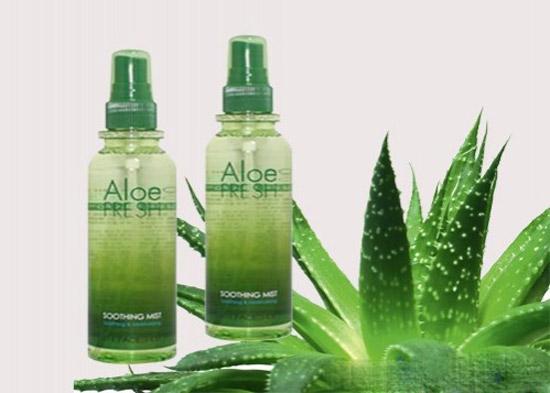 Xịt Khoáng Lô Hội, Nha Đam Aloe fresh soothing mist the face shop