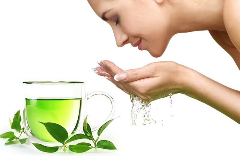 Rửa mặt bằng nước trà xanh