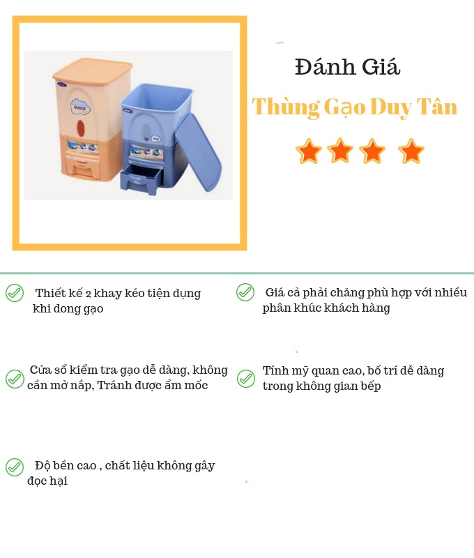 Đánh giá thùng gạo Duy Tân