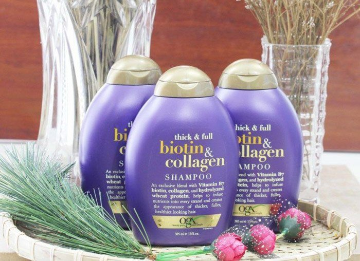 Dầu Gội Biotin Collagen Màu Tím