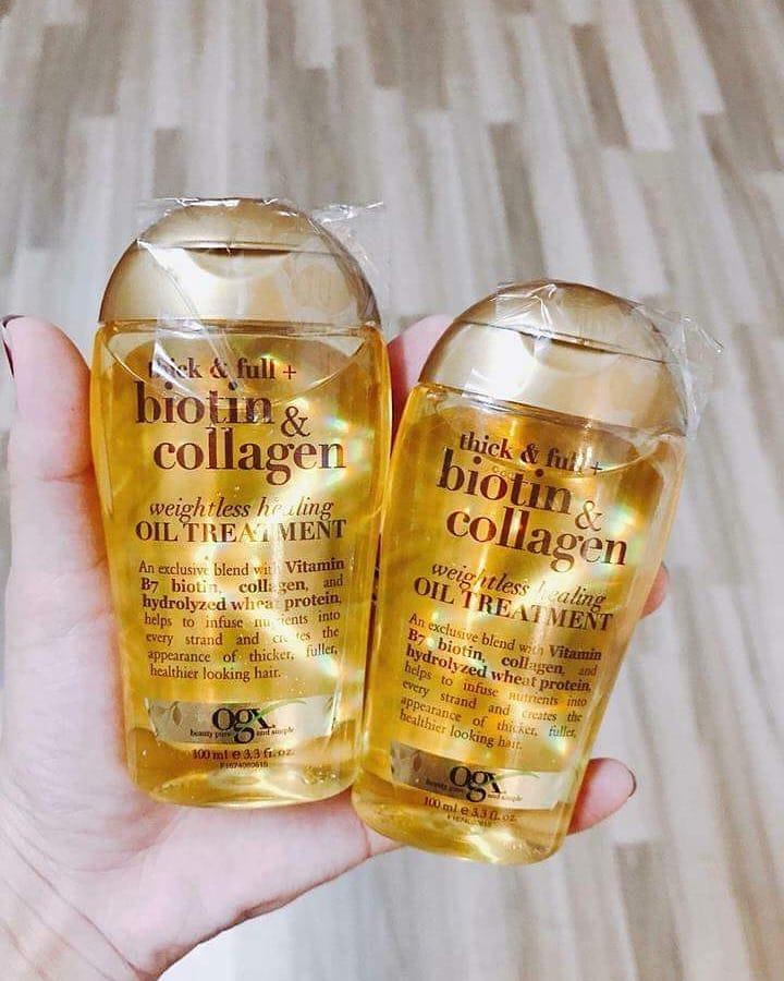 Dầu Gội Biotin Collagen Màu Vàng
