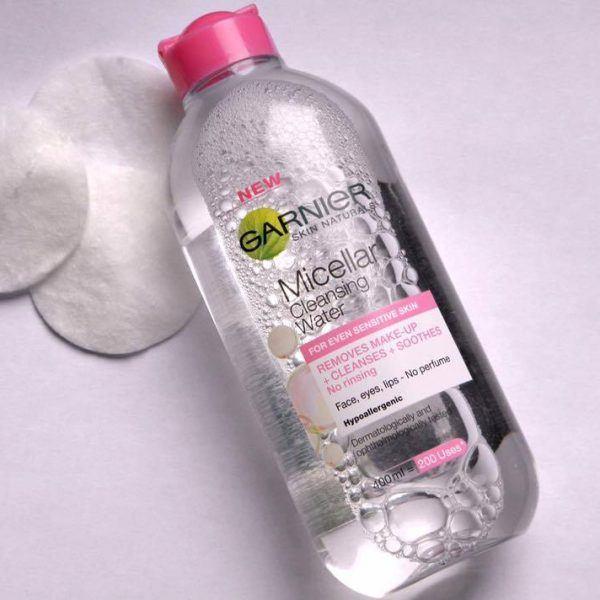 Nước tẩy trang Garnier Micellar Water nắp hồng cho da nhạy cảm Nước tẩy trang Garnier Micellar Water nắp hồng cho da nhạy cảm