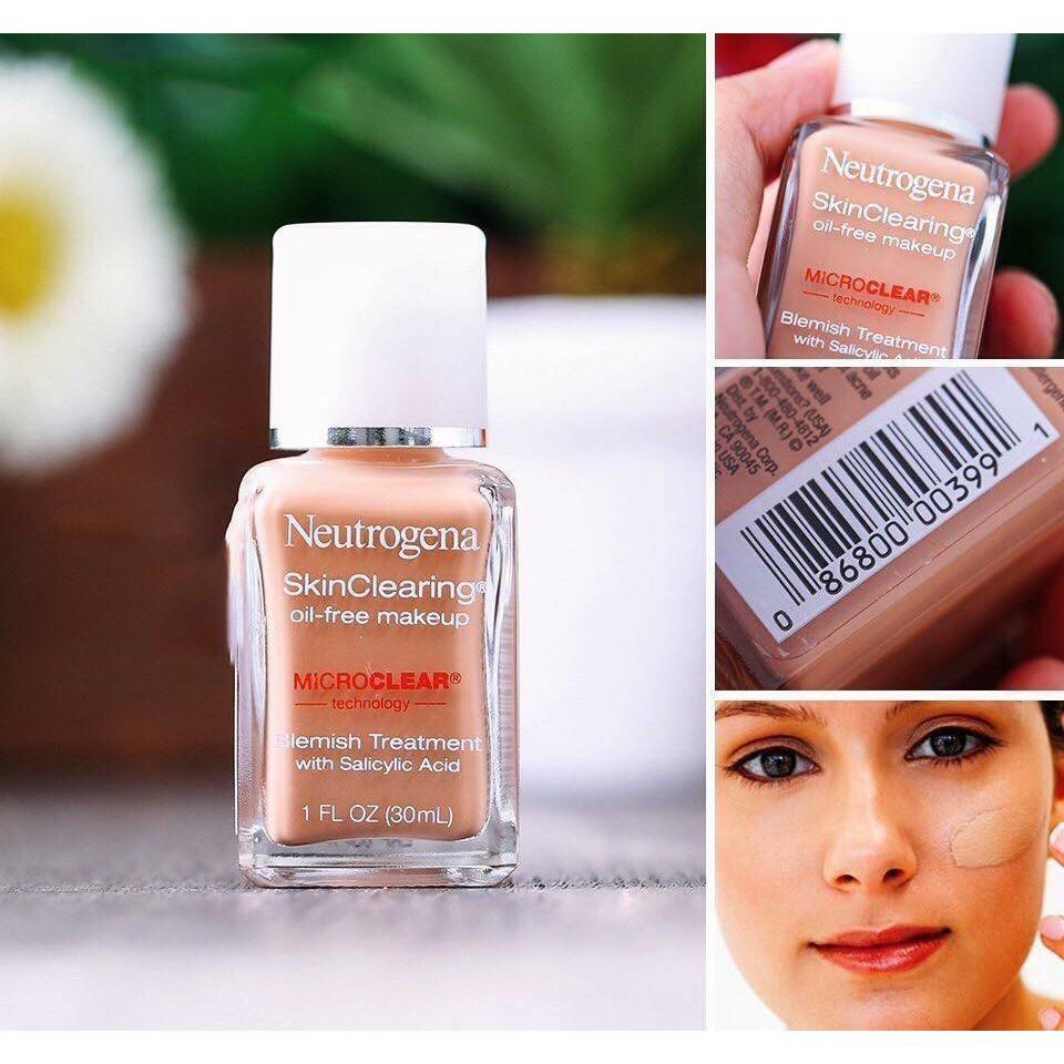 Kem Nền Neutrogena Skin Clearing Oil-Free Makeup