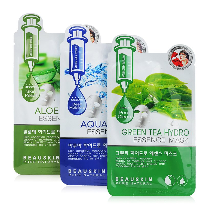 Mặt Nạ Giấy Beauskin Green Tea Hydro Essence Mask