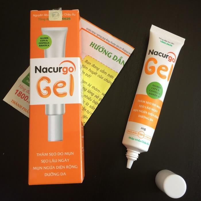 Nacurgo gel có cách trị mụn khá khác biệt