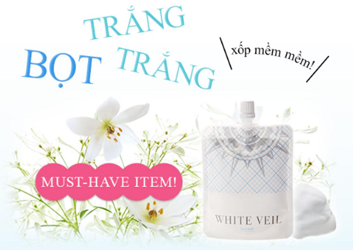 Sữa Rửa Mặt Bọt White Veil