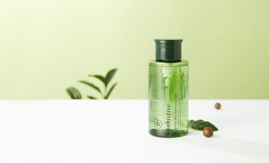 nuoc tay Trang Innisfree Green Tea Cleansing Water Cho Da Dau Mun